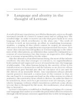 Language and alterity in the thought of Levinas