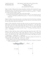 Đề thi Vật Lý HSG lớp 9 huyện Hậu Lộc năm học 2010 - 2011