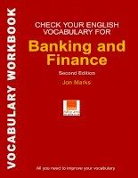 Học từ tựng tiếng anh chuyên ngành ngân hàng