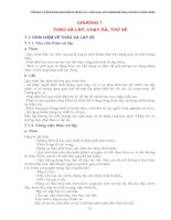 Chẩn đoán trạng thái kỹ thuật ô tô - CHƯƠNG 7: THÁO VÀ LẮP, CHẠY RÀ, THỬ XE