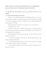THỰC TRẠNG TỔ CHỨC KẾ TOÁN BÁN HÀNG VÀ XÁC ĐỊNH KẾT QUẢ Ở CÔNG TY VẬT TƯ THIẾT BỊ TOÀN BỘ  METEXIM