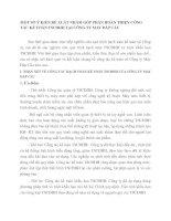 MỘT SỐ Ý KIẾN ĐỀ XUẤT NHẰM GÓP PHẦN HOÀN THIỆN CÔNG TÁC KẾ TOÁN TSCĐHH TẠI CÔNG TY MAY ĐÁP CẦU