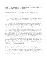 PHÂN TÍCH TÌNH HÌNH QUẢN LÝ VÀ HIỆU QUẢ SỬ DỤNG TSLĐ CỦA CÔNG TY CÔNG TRÌNH HÀNG KHÔNG