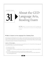 About the GED Language Arts, Reading Exam