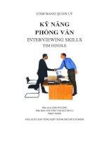 Kỹ năng phỏng vấn - Cẩm nang quản lý hiệu quả