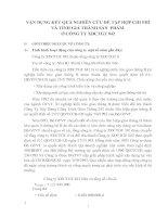 VẬN DỤNG KẾT QUẢ NGHIÊN CỨU ĐỂ TẬP HỢP CHI PHÍ VÀ TÍNH GIÁ THÀNH SẢN  PHẨM