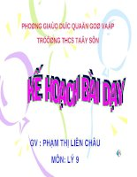 Bài giảng 9 bai 2 Dien tro cua day dan1 Dinh luat Om