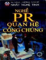 [Tủ sách hướng nghiệp] Nghề PR - Quan hệ Công chúng