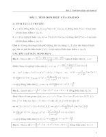 Tinh đơn điệu của hàm số.