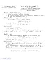 Bài soạn Đề thi thử Đại học của Trường Đại học Sư phạm Hà Nội