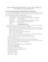 LỊCH SỬ HÌNH THÀNH PHÁT TRIỂN VÀ CHỨC NĂNG NHIỆM VỤ CỦA CÔNG TY VÀ CÁC PHÒNG BAN