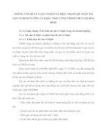 NHỮNG VẤN ĐỀ LÝ LUẬN CƠ BẢN VÀ THỰC TRẠNG KẾ TOÁN TÀI SẢN CỐ ĐỊNH Ở CÔNG TY KHÁC THÁC CÔNG TRÌNH THUỶ LỢI HÒA BÌNH