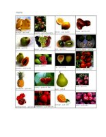 Fruits ( các loại trái cây)