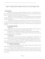 Bài giảng Một số biện pháp công tác chủ nhiệm