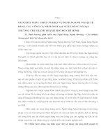 GIẢI PHÁP PHÁT TRIỂN NGHIỆP VỤ KINH DOANH NGOẠI TỆ BẰNG CÁC CÔNG CỤ PHÁI SINH TẠI NGÂN HÀNG NGOẠI THƯƠNG CHI NHÁNH THÀNH PHỐ HỒ CHÍ MINH