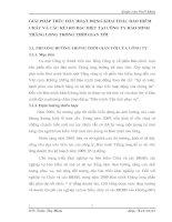 GIẢI PHÁP THÚC ĐẨY HOẠT ĐỘNG KHAI THÁC BẢO HIỂM CHÁY VÀ CÁC RỦI RO ĐẶC BIỆT TẠI CÔNG TY BẢO MINH THĂNG LONG TRONG THỜI GIAN TỚI