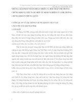 NHỮNG GIẢI PHÁP NHẰM PHÁT TRIỂN VÀ HỘI NHẬP THỊ TRƯỜNG CHỨNG KHOÁN VIỆT NAM NHÌN TỪ KINH NGHIỆM CỦATHỊ TRƯỜNG CHỨNG KHOÁN TRUNG QUỐC