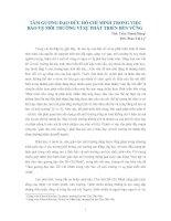 Gián án TẤM GƯƠNG ĐẠO ĐỨC HỒ CHÍ MINH TRONG VIỆC BẢO VỆ MÔI TRƯỜNG VÌ SỰ PHÁT TRIỂN BỀN VỮNG