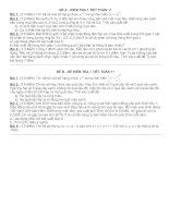 Đề kiểm tra 1 tiết toán 11 nhị thức newton --> biến ngẫu nhiên