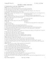 Tài liệu ON TAP TRAC NGHIEM CHUONG V 12CB