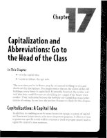 Capitalization and Abbreviations - Go to the Head of the Class