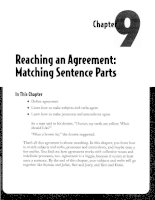Reaching an Agreement - Matching Sentence Parts