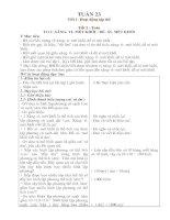 Bài giảng Giao an lop 5 tuan 23