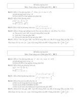 Đề kiểm tra học kì I và đáp án chi tiết