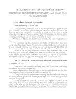 LÝ LUẬN CHUNG VỀ TỔ CHỨC KẾ TOÁN CÁC NGHIỆP VỤ THANH TOÁN  PHÂN TÍCH TÌNH HÌNH VÀ KHẢ NĂNG THANH TOÁN CỦA DOANH NGHIỆP