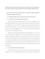 NHỮNG VẤN ĐỀ CƠ BẢN VỀ KẾ TOÁN TIÊU THỤ VÀ XÁC ĐỊNH KẾT QUẢ TIÊU THỤ HÀNG HOÁ TRONG DOANH NGHIỆP THƯƠNG MẠI