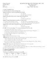 Đề thi học kì I vật lý 8