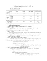 Ma trận đề thi môn Ngữ Văn HK1 2010-2011