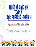Bài soạn Toan phan so lop 4