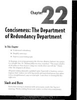 Conciseness - The Department of Redundancy Department