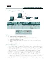 Lab 9.3.6 Configuring Inter-VLAN Routing