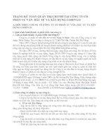 TRẠNG KẾ TOÁN QUẢN TRỊ CHI PHÍ TẠI CÔNG TY CỔ PHẦN TƯ VẤN  ĐẦU TƯ VÀ XÂY DỰNG COSEVCO