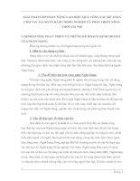 GIẢI PHÁP GÓP PHẦN NÂNG CAO HIỆU QUẢ CÔNG TÁC KẾ TOÁN CHO VAY TẠI NGÂN HÀNG NÔNG NGHIỆP VÀ PHÁT TRIỂN NÔNG THÔN HÀ NỘI