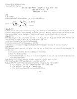De thi - Đ/A HSG hoa 9 (10-11)