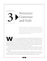 Structure - Grammar and Style