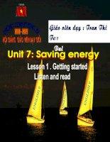 Tài liệu unit 7 - líten and read