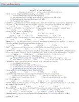 tổng hợp các bài tập trắc nghiệm ôn thi đại học môn hóa học