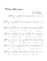 Bài hát tiếng thời gian - Lâm Tuyền (lời bài hát có nốt)