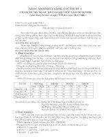 Tài liệu Báo cáo thi đua