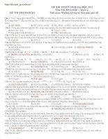 Tài liệu ĐỀ THI THỬ ĐẠI HỌC LẦN 3