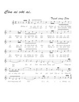 Bài hát còn ai với ai - Trịnh Công Sơn (lời bài hát có nốt)