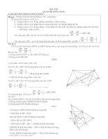 Bài tập :Đường thẳng và mặt phẳng song song