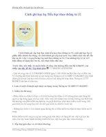 Gián án Cách ghi học ba tiểu học