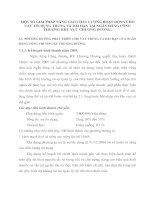 MỘT SỐ GIẢI PHÁP NÂNG CAO CHẤT LƯỢNG HOẠT ĐỘNG CHO   VAY TÍN DỤNG TRUNG VÀ DÀI HẠN TẠI NGÂN HÀNG CÔNG THƯƠNG KHU VỰC CHƯƠNG DƯƠNG