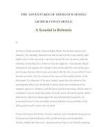 LUYỆN ĐỌC TIẾNG ANH QUA TÁC PHẨM VĂN HỌC-THE ADVENTURES OF SHERLOCK HOMES -ARTHUR CONAN DOYLE 1-2
