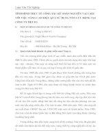 TÌNH HÌNH THỰC TẾ CÔNG TÁC KẾ TOÁN NGUYÊN VẬT LIỆU VỚI VIỆC NÂNG CAO HIỆU QUẢ SỬ DỤNG VỐN LƯU ĐỘNG TẠI CÔNG TY DỆT 8-3.